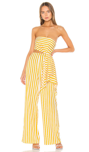 Michael Costello x REVOLVE Rio Jumpsuit in Yellow