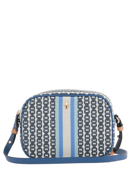 Tory Burch Gemini Link Canvas Mini Bag in blue