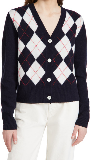 Alex Mill Bleecker Argyle Cardigan in navy
