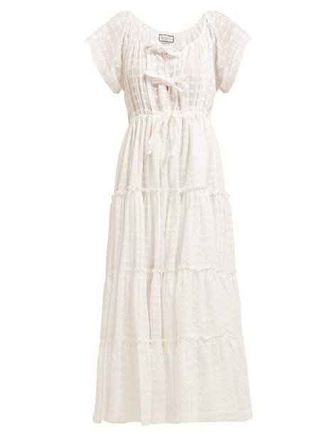 Innika Choo - Tiered Cotton Poplin Dress - Womens - White
