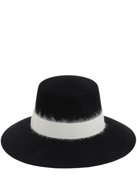 EUGENIA KIM Stevie Wool Felt Hat W/ Hatband in black