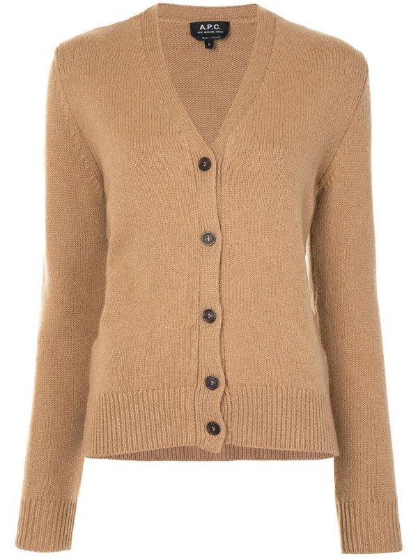 A.P.C. Ama v-neck cardigan in brown