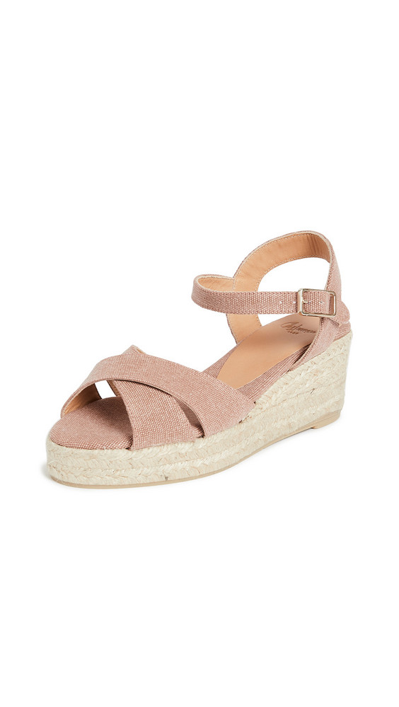 Castaner Blaudell Crisscross Low Wedge Espadrilles in pink