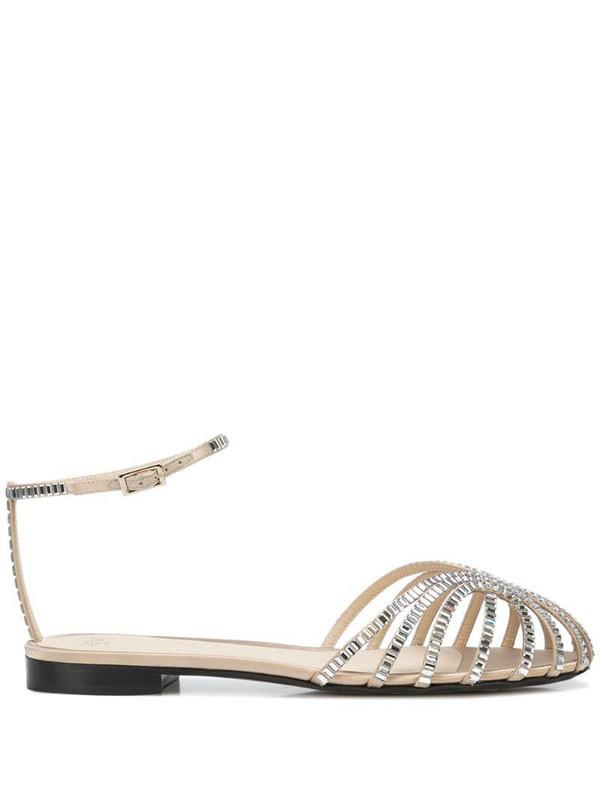 Alevì Rebecca strappy flat sandals in white
