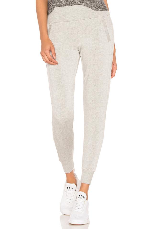 Beyond Yoga Foldover Long Sweatpant in gray