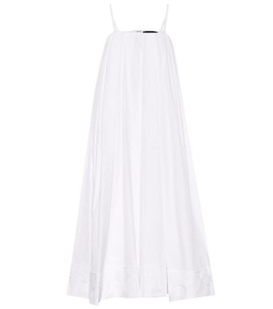 Simone Rocha Cotton midi dress in white