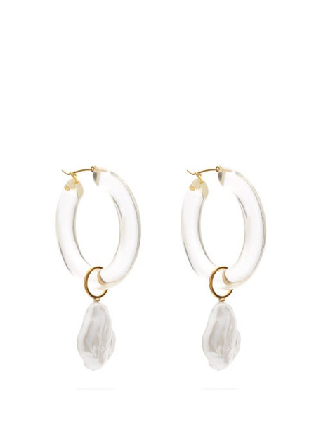 Lizzie Fortunato - Frost Hoop And Pearl Earrings - Womens - Clear