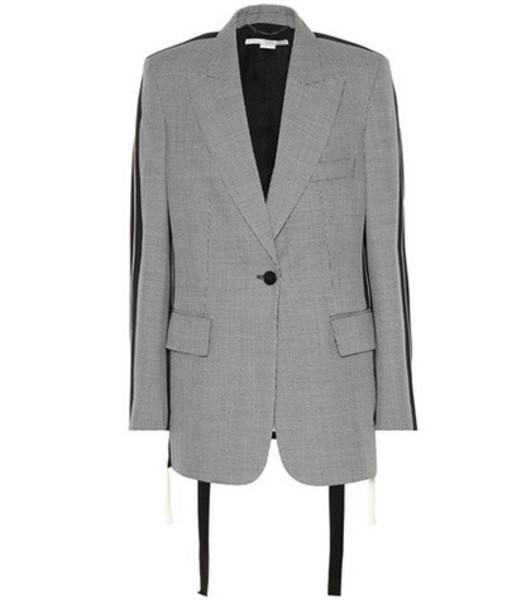 Stella McCartney Victoria micro-check wool blazer in grey