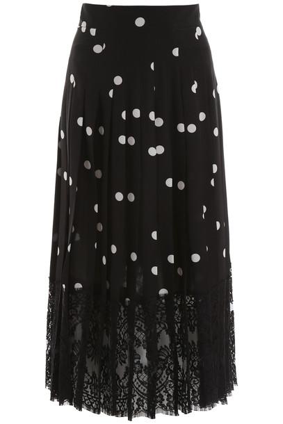 Dolce & Gabbana Polka Dots Midi Skirt in black