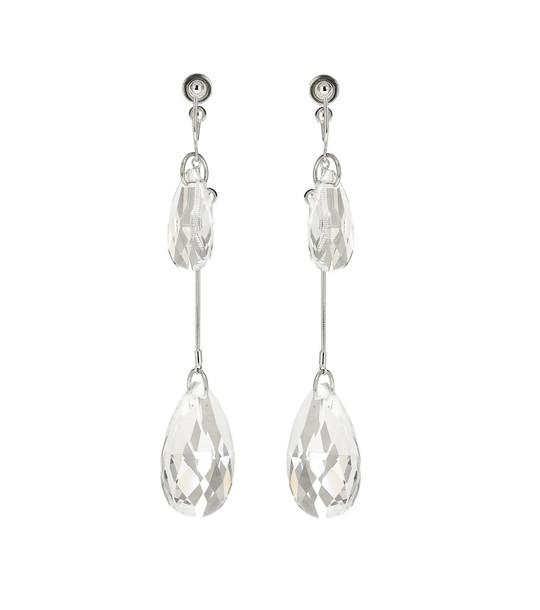 JW Anderson Crystal-embellished earrings in metallic
