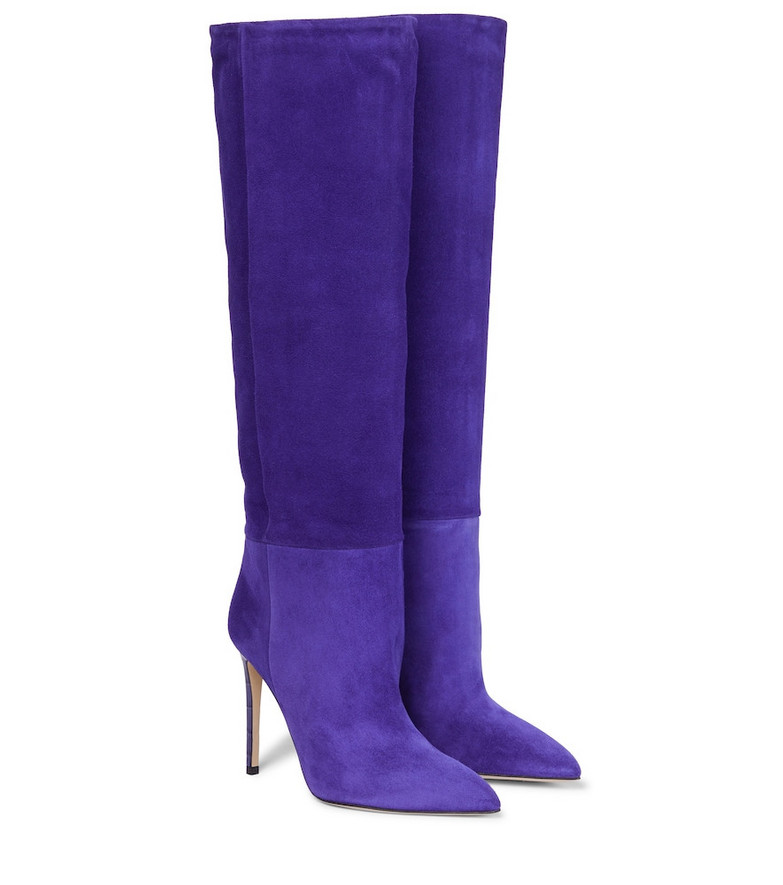 Paris Texas Suede knee-high boots in purple