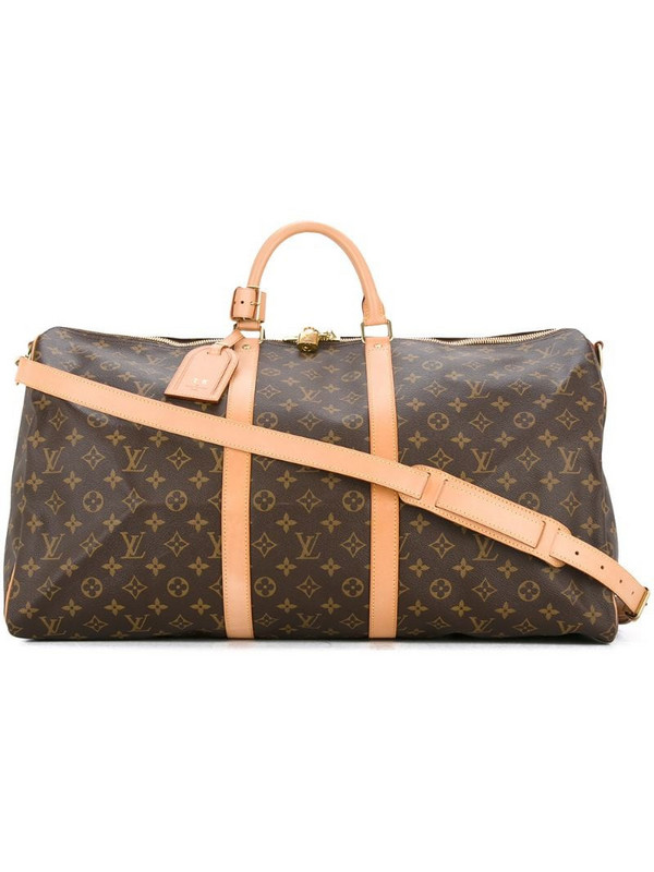 Louis Vuitton pre-owned Keepall 55 Bandouliere bag in brown