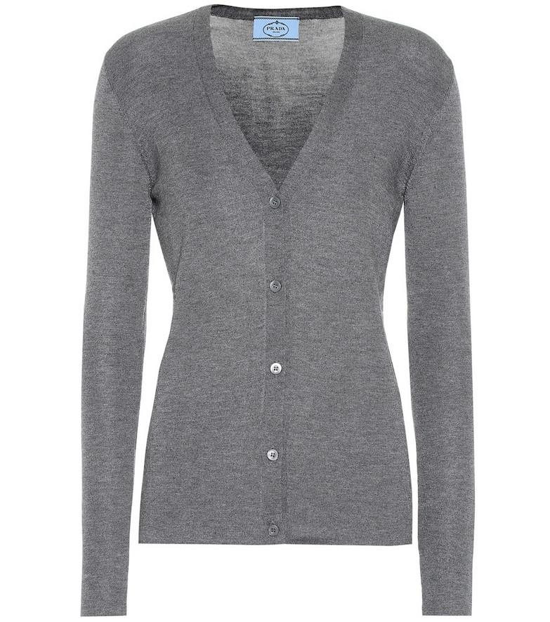 Prada Cashmere and silk cardigan in grey