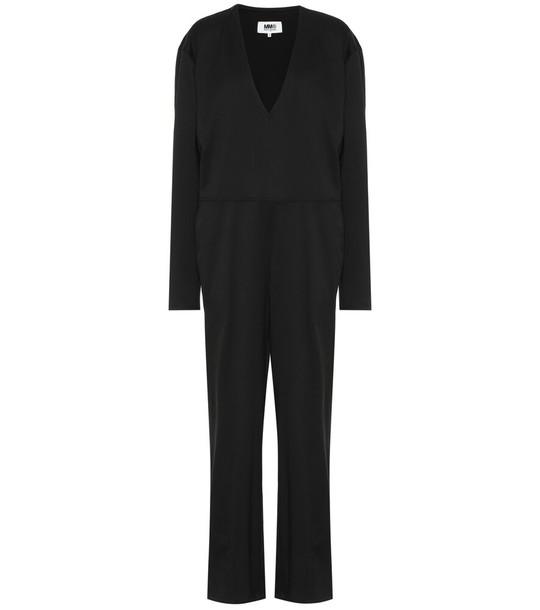 MM6 Maison Margiela Wool-blend jumpsuit in black