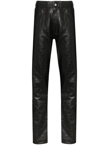 Marine Serre Moon print trousers in black