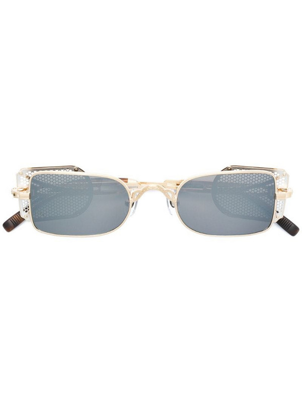 Matsuda square tinted sunglasses in metallic