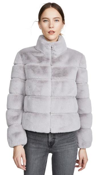 Generation Love Jodi Faux Fur Jacket in grey