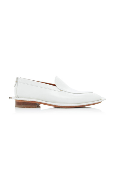 Lanvin Leather Loafers Size: 36 in white