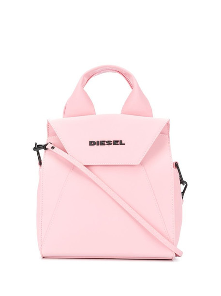 Diesel top-handle tote bag in pink