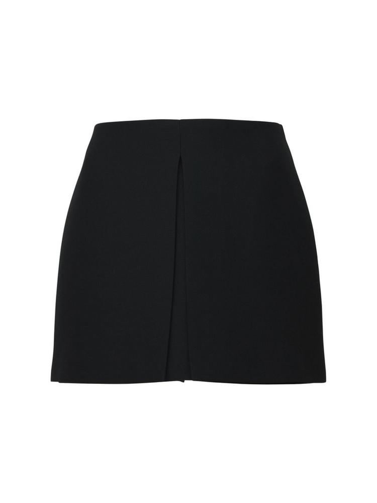 VALENTINO Wool & Silk Crepe Mini Skort in black
