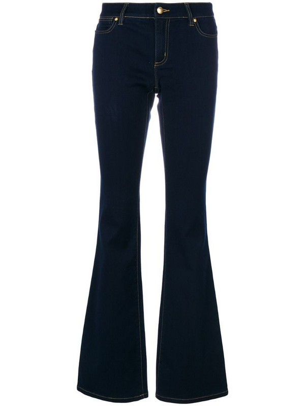 Michael Michael Kors mid rise flared jeans in blue