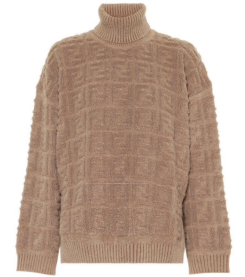 Fendi Logo sweater in beige