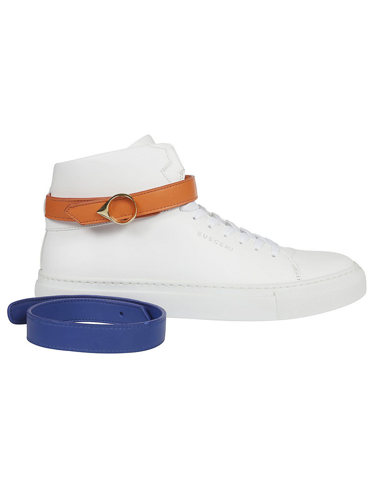 Buscemi Belted Sneakers in white