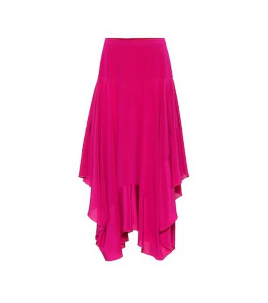 Stella McCartney Poppy silk crêpe de chine skirt in purple