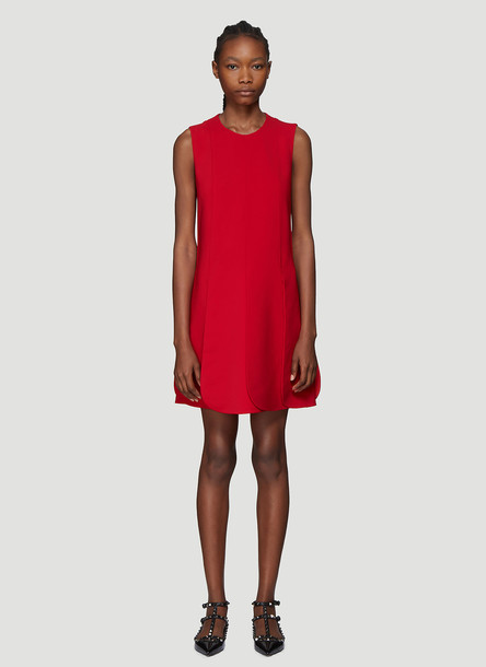 Valentino Petal Hem Dress in Red size IT - 42