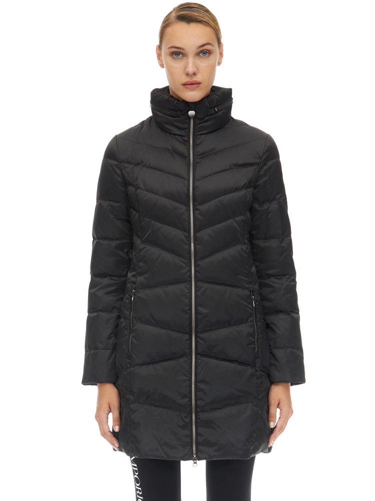 EA7 EMPORIO ARMANI Long Mountain Down Jacket in black