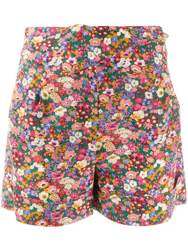 Blazé Milano floral print silk shorts in pink