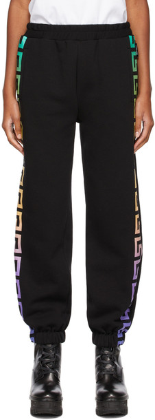Versace Black Empire Link Logo Lounge Pants
