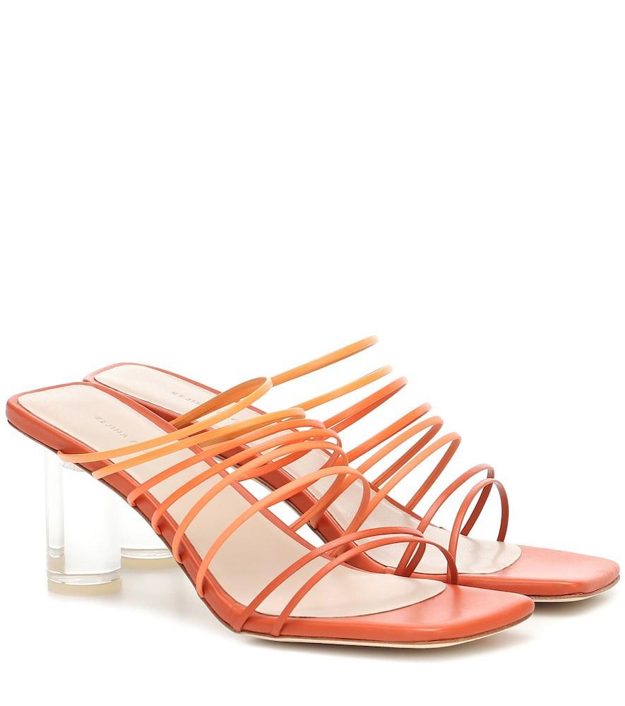 Rejina Pyo Zoe leather sandals in orange