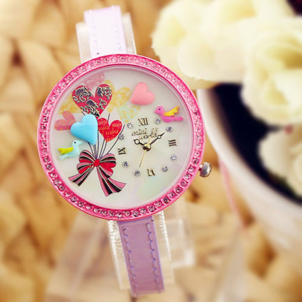 jewels polymer handmade watch heart origina