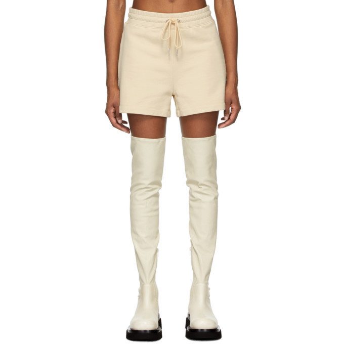 Dion Lee Beige Terry Boxer Shorts in sand