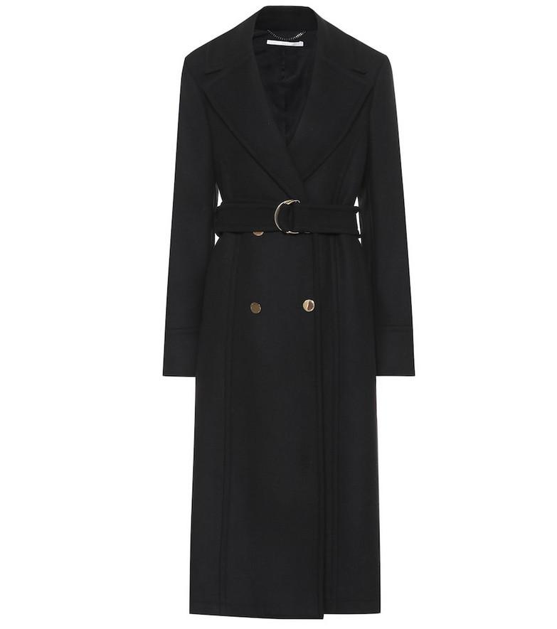 Stella McCartney Belted wool coat in black