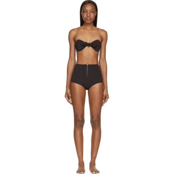 Lisa Marie Fernandez Black High-Waisted Poppy Bikini