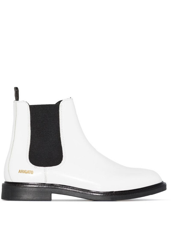 Axel Arigato logo-detail Chelsea boots in white