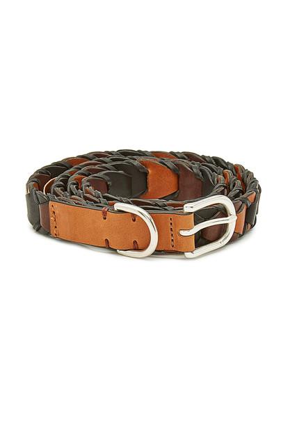 Rag & Bone Arrow Leather Belt  in brown