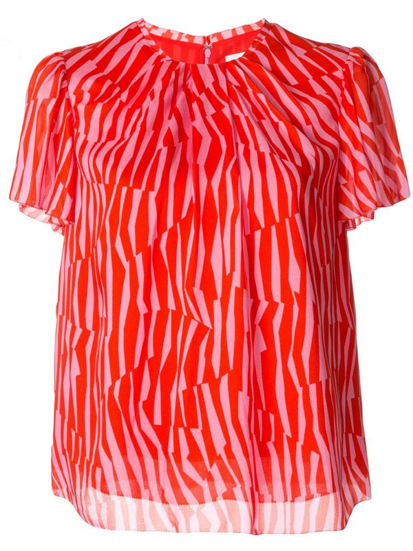 CK Calvin Klein geometric print blouse in red