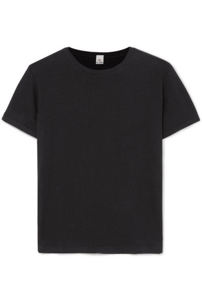 RE/DONE - Classic Cotton-jersey T-shirt - Black