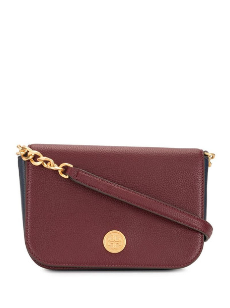 Tory Burch logo cross body bag in red
