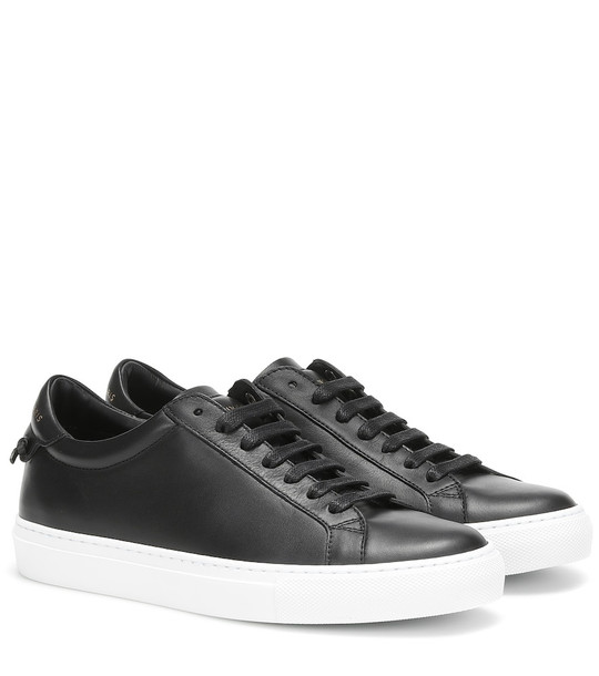 Givenchy Urban Street leather sneakers in black