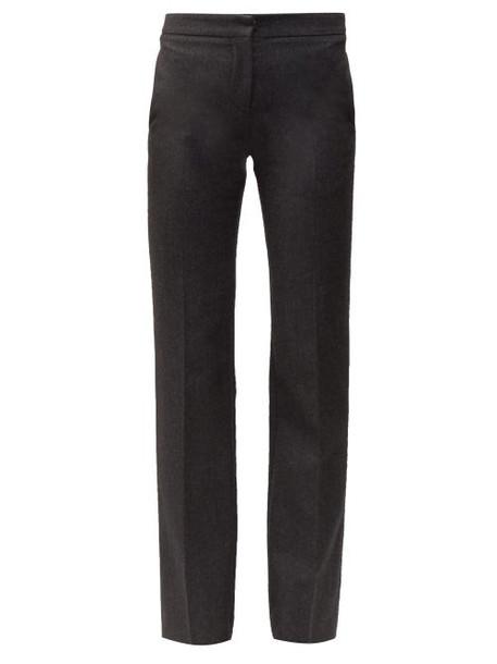 Alexander Mcqueen - Men's Cut Straight Leg Wool Trousers - Womens - Grey