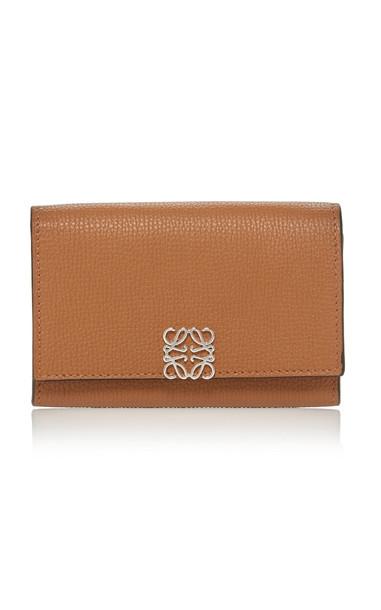 Loewe Anagram Small Wallet Leather Crossbody Bag in brown