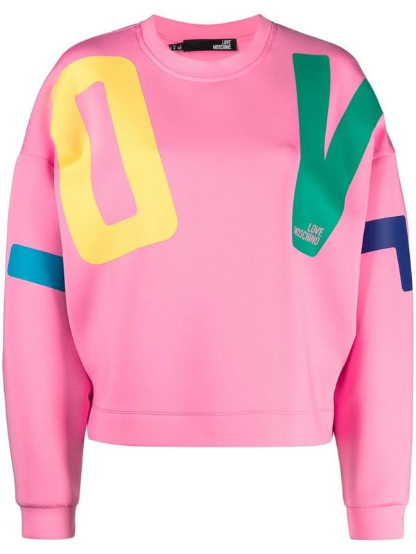 Love Moschino drop-shoulder sweatshirt in pink
