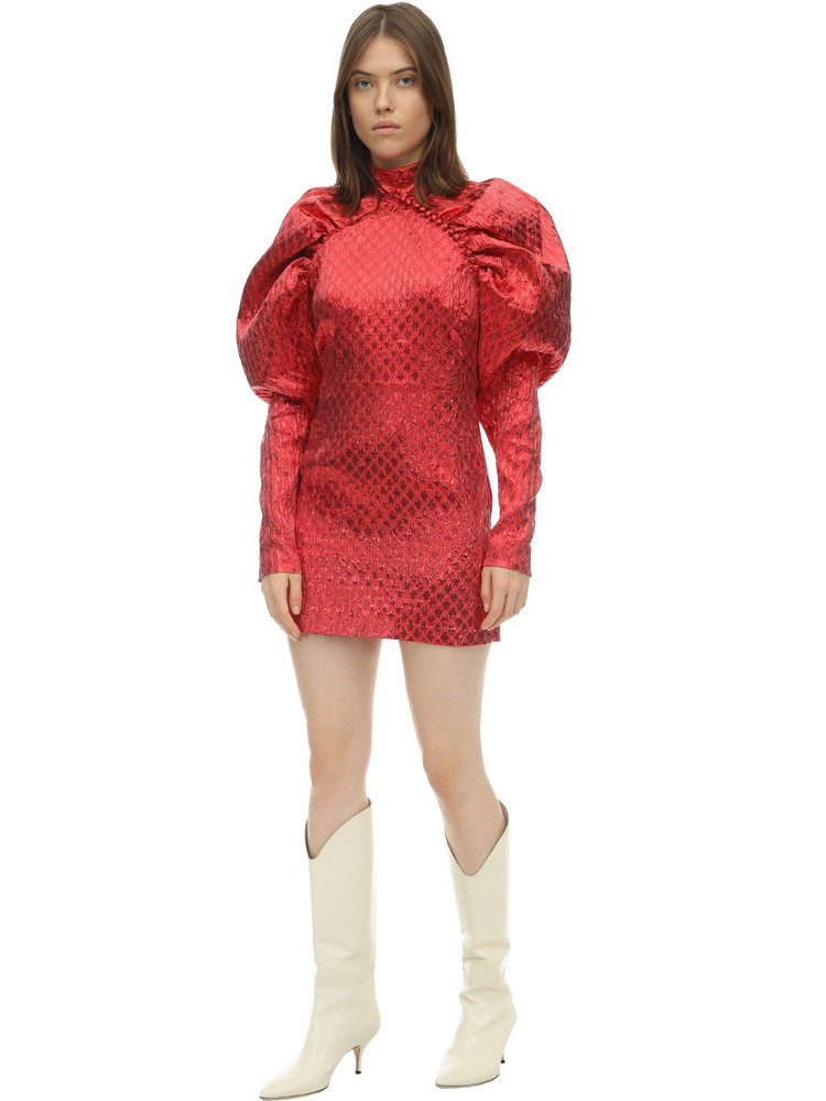 ROTATE Kim Lurex Mini Dress in red