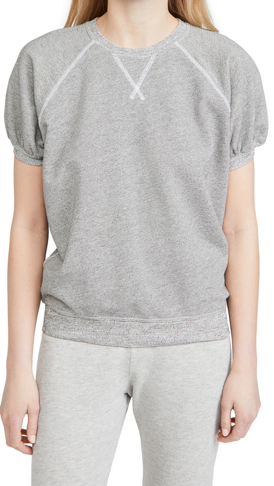 THE GREAT. THE GREAT. The Puff Sleeve Sweatshirt in grey