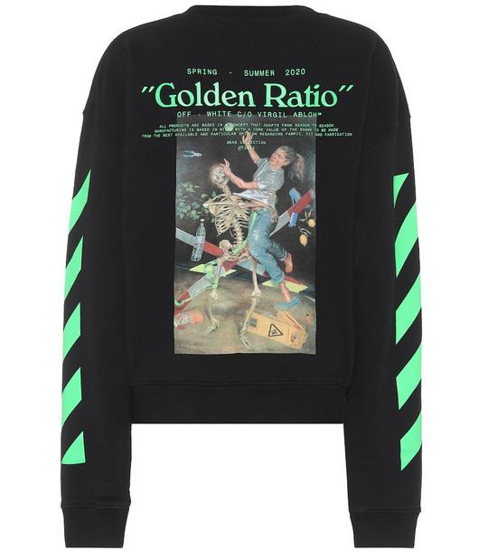Off-White Printed cotton-jersey sweatshirt in black