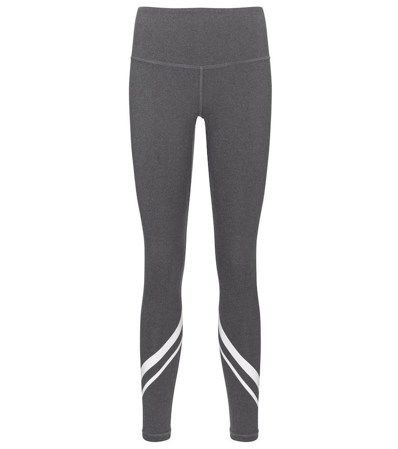 Tory Sport High-rise stretch-jersey leggings in grey